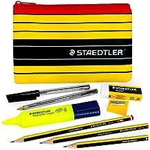 Staedtler Noris Lápiz Case Set–430M bolígrafos y lápices de grafito–Juego con Staedtler Noris 120rotulador, goma de borrar, sacapuntas, lápiz y funda