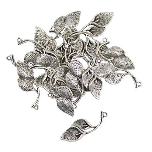 Preisvergleich Produktbild 20pcs Tibetanische Silberne Lilie Calla Blume Reize Anhänger Schmuck Machen Handwerk