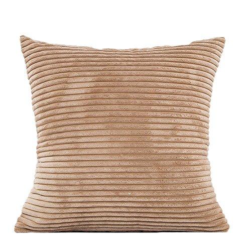 bigboba Plüsch Kissenbezüge Mais mit Sofa Bett Haushalt Kissenbezüge Kissen Corduroy , braun, 45 x 45 cm (Kissen Dekoratives Braun)