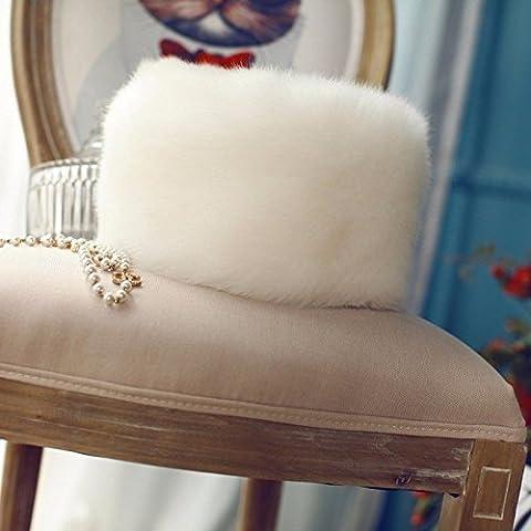 ZYONG*Las mujeres Faux Fur Hat estilo ruso Gorro de invierno desgaste del cabezal blanco Tapa de