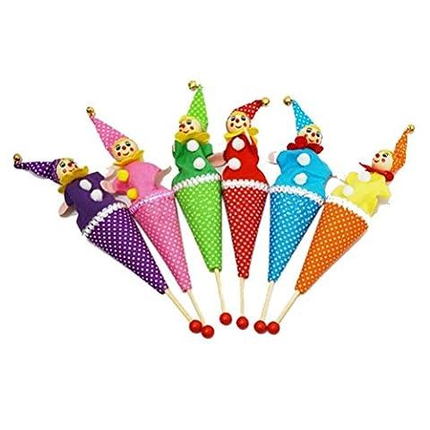 TBS télescopique Fun Petit Clown coloré marionnettes