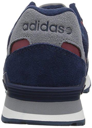 Adidas Neo 10k Lifestyle Runner Sneaker, Noir / Rouge solaire / gris, 6,5 M Us Collegiate Navy/Silver/Collegiate Burgundy