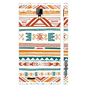 Micromax Canvas Express A99 Aztec Art 2 designer mobile hard shell case by Enthopia