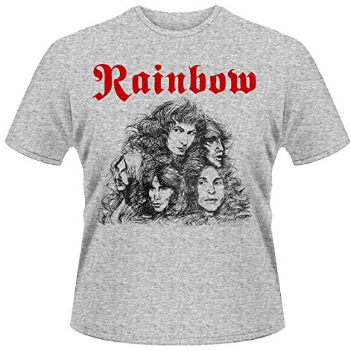 T shirt L Rainbow - Long live rock & roll (T shirt taille large) (Rock Roll-taille)