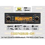 24Volt Bluetooth Radio Lorry RDS DAB Tuner CD MP3WMA USB Bus CDD7428UB or