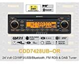 Continental CDD7428UB-OR 24 Volt - CD/MP3-Autoradio mit Bluetooth / DAB / USB / AUX-IN