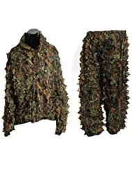 Ghillie Suit - TOOGOO(R) 3D Leaf Adults Ghillie Suit Woodland Camo/Camouflage Hunting Deer Stalking in