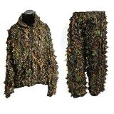 Tarnkleidung - TOOGOO (R) 3D Ahornblattform Dschungel Blatt Erwachsene Ghillie Anzug Waldland Camo/ Tarnkleidung