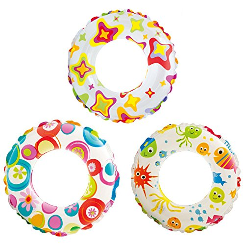Generic Intex Kids Swimming Ring For Age Between 3-6 Years - Multi Color