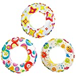 """20"""" swim rings available in three colorful prints 8 gauge vinyl with double chamber Recommended for ages 3-6 years Lively print swim rings Sold individually. Color/design will vary - Picture is just to show what colors this item comes in,"""