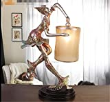 HHORD Warm Persönlichkeit Heimtextilien Tischlampe Ballett Bühnenlampe Wohnzimmer Schlafzimmer Schreibtisch Lampe