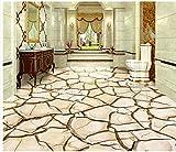 LANYU 3D Dreidimensionale Tapete Boden Riss Trocken 3D Bodenfliese Zimmer Tapete Boden Aufkleber Dekoration, 200 * 140 cm