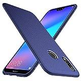 iBetter Coque Honor 8X, Ultra Mince Silicone Cas Solide, Durable, Anti-Chute, antidérapant Cas Souple TPU Cas Mobile Téléphone Case pour Honor 8X Smartphone(Bleu)