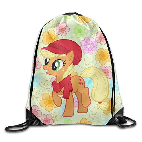 HLKPE Creative Design Applejack My Little Pony Drawstring Backpack Sport Bag for Men and Women (My Pony Ballerina Little)