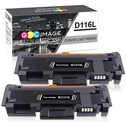 GPC Image D116L MLT-D116L Cartucce Toner sostituzione Compatibili per Xpress SL-M2835DW M2825ND M2825DW M2885FW M2675 M2675FN M2875FD M2625 M2625D M2626 M2676 M2676FH M2825 Stampante(Nero,2-Pacco)