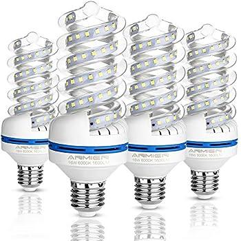 Bombillas LED E27 16W (equivalente a 120watt), Blanco Frío 6000k Led Lámpara, bombilla LED de 1600 lumens, No regulable, 360 Degree Ángulo de haz - 4 ...