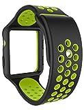 Apple Watch Armband 38mm, iDudu Soft Silikon Sport Ersatz Uhrenarmbänder mit Case für Apple iWatch...