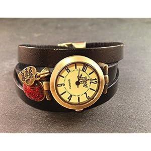 Uhr Bronze Braun Blüte