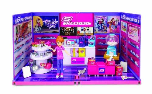 Preisvergleich Produktbild MiWorld – Erstell deine eigenen Skechers Laden – Spielset Deluxe – 1 Figur + Zubehör