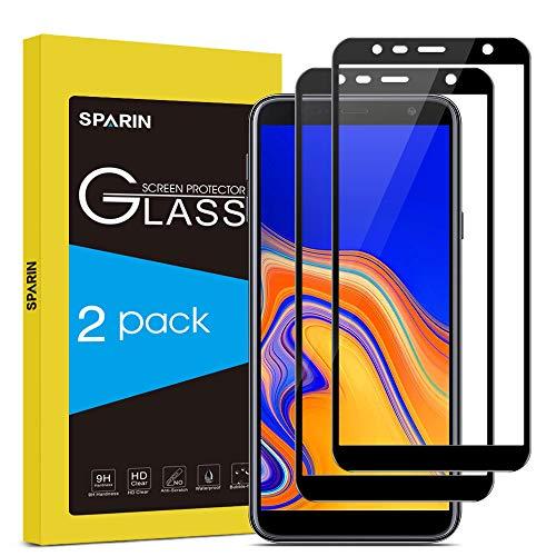 SPARIN [Lot de 2] Compatible avec Verre Trempé Samsung J6 Plus/J4 Plus,...