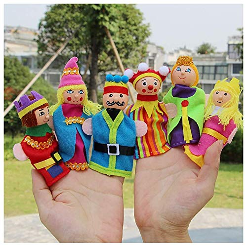 Prinzessin Und Prinz Partei Ideen - Handpuppen 6 Satz Mini Charakter Plüsch-Spielzeug,