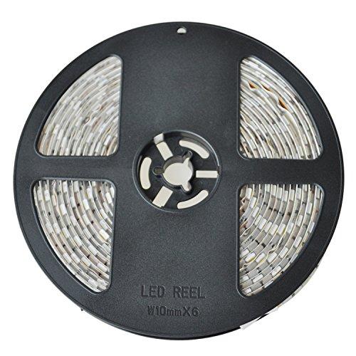 SODIAL(R) Tira de Luz 5M 300 LED 5050 SMD Blanco Calido Impermeable Flexible 12V para Fiesta Coche