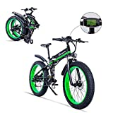 Shengmilo Bicicletta elettrica da Uomo E-Bike Fat Snow Bike 1000W-48V-13Ah Li-Batteria 26 * 4.0 Mountain Bike MTB Shimano 21-velocità Freni a Disco Intelligent Electric Bike