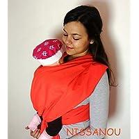 NISSANOU porte bébé ECHARPE DE PORTAGE neuve CORAIL idée cadeau naissance fe523c999fb