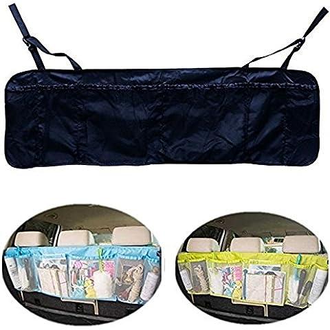 EarthSafe® Grande capacità Bagagliaio Backseat dell'organizzatore multi-tasca borsa da viaggio di stoccaggio Titolare Pouch (Nero)