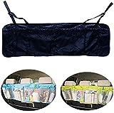 EarthSafe® Titular de gran capacidad de maletero del coche del asiento trasero multi del bolsillo del recorrido del almacenaje del bolso de la bolsa (Negro)
