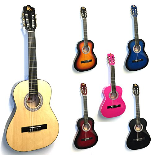 rio-3-4-size-natural-classical-guitar-pack-for-kids-beginners-suit-9-to-12-years-inc-bag-strap-picks