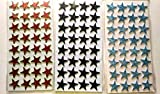Kabeer Art 64Pc Glitter Foam Star Shaped Stickers For Art & Craft Purpose ( 2 Assorted Random Color Sheets )