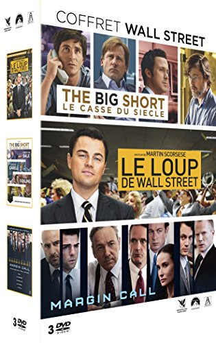 Coffret Wall Street : The Big Short + Margin Call + Le loup de Wall-Street