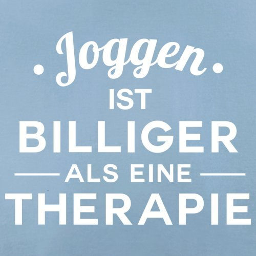 Joggen ist billiger als eine Therapie - Herren T-Shirt - 13 Farben Himmelblau