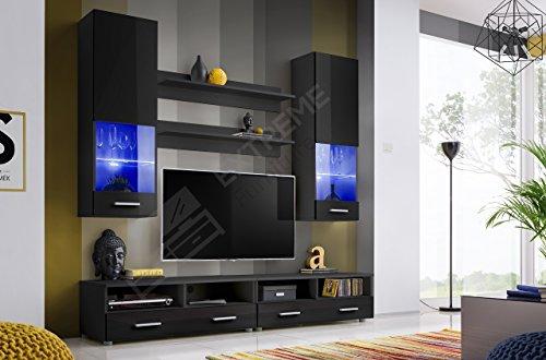 Living Room High Gloss Furniture Set Display Wall Unit Modern TV Unit  Cabinet (Hana 4 / BBB) Part 37