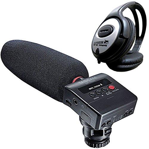 Preisvergleich Produktbild Tascam DR-10SG Audiorecorder mit Richtmikrofon + KEEPDRUM Kopfhörer