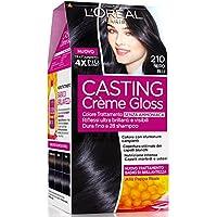 L'Oréal Paris Casting Crème Gloss Colore Trattamento senza Ammoniaca, 210 Nero Blu