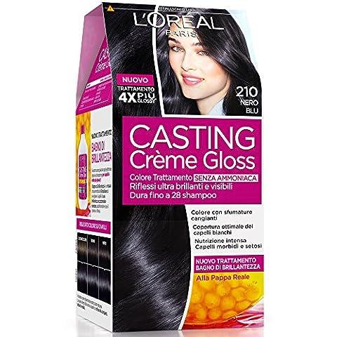 Haarfärbemittel Casting Creme Gloss ohne Ammoniak N210 schwarz blau