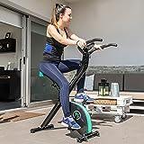 Faltbares X-Bike Heimtrainer Fitnessfahrrad mit Herzfrequenz-Monitor und LCD-Bildschirm   Das perfekte Trainingsgerät für ein effektives Ganzkörper-Workout zu Hause - 3