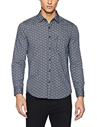 Buffalo By FBB Men's Printed Slim Fit Cotton Casual Shirt