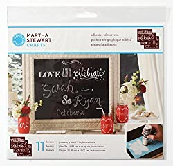 Plaid Martha Stewart 33551 Phrases Chalkboard Silkscreens, 9 by 7-1/2-Inch, Set of 3