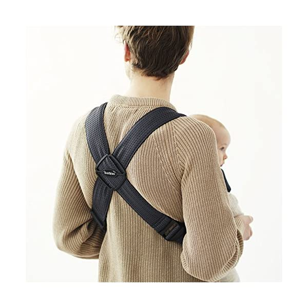 BABYBJÖRN Baby Carrier Mini, 3D Mesh, Anthracite Baby Bjorn Perfect first baby carrier for a newborn Small and easy to use 3D Mesh - Cool and airy mesh fabric, with an incredibly soft inner layer next to your newborn's skin 7