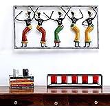 [Sponsored]Karigaari India Metal Dancing Rajasthani Warli Ladies Wall Hanging Home Décor Art I Wall Art I Wall Décor I Wall Hanging