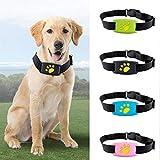 DJLOOKK Hunde GPS Tracker Mini-GPS-Tracker für Hund und Katze Anti-Lost-Tracking-Gerät zur Ortung, Alarmierung und Echtzeit-Tracking,Black