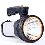 ROMER LED Rechargeable Handheld Searchlight High-power Super Bright 9000 MA 6000 LUMENS CREE Tactique Spotlight Torche Lanterne Flashlight (argenté)