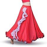 ROYAL SMEELA da Donna, per la Danza del Ventre Abbigliamento Gonna,Red