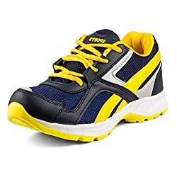 Golden Sparrow MenS Navy Mesh Walking Shoes (Tm-Dk-19-07)- 7 Uk