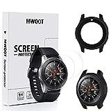 Mwoot Funda y 2 Unidades Protectores de Cristal Templado para Samsung Galaxy Watch 46MM y Samsung...