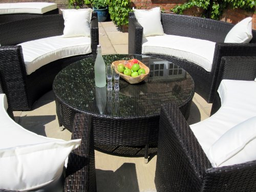 Grey Rattan Garden Furniture Uk Lauren luxury grey rattan garden furniture circular sofa and coffee lauren luxury grey rattan garden furniture workwithnaturefo