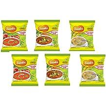 foodix Tomato Soup Mix, Hot & Sour Soup Mix, Sweet Corn Soup Mix -48g (Pack of 6)